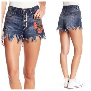 Free people Fields of Sun Denim Shorts